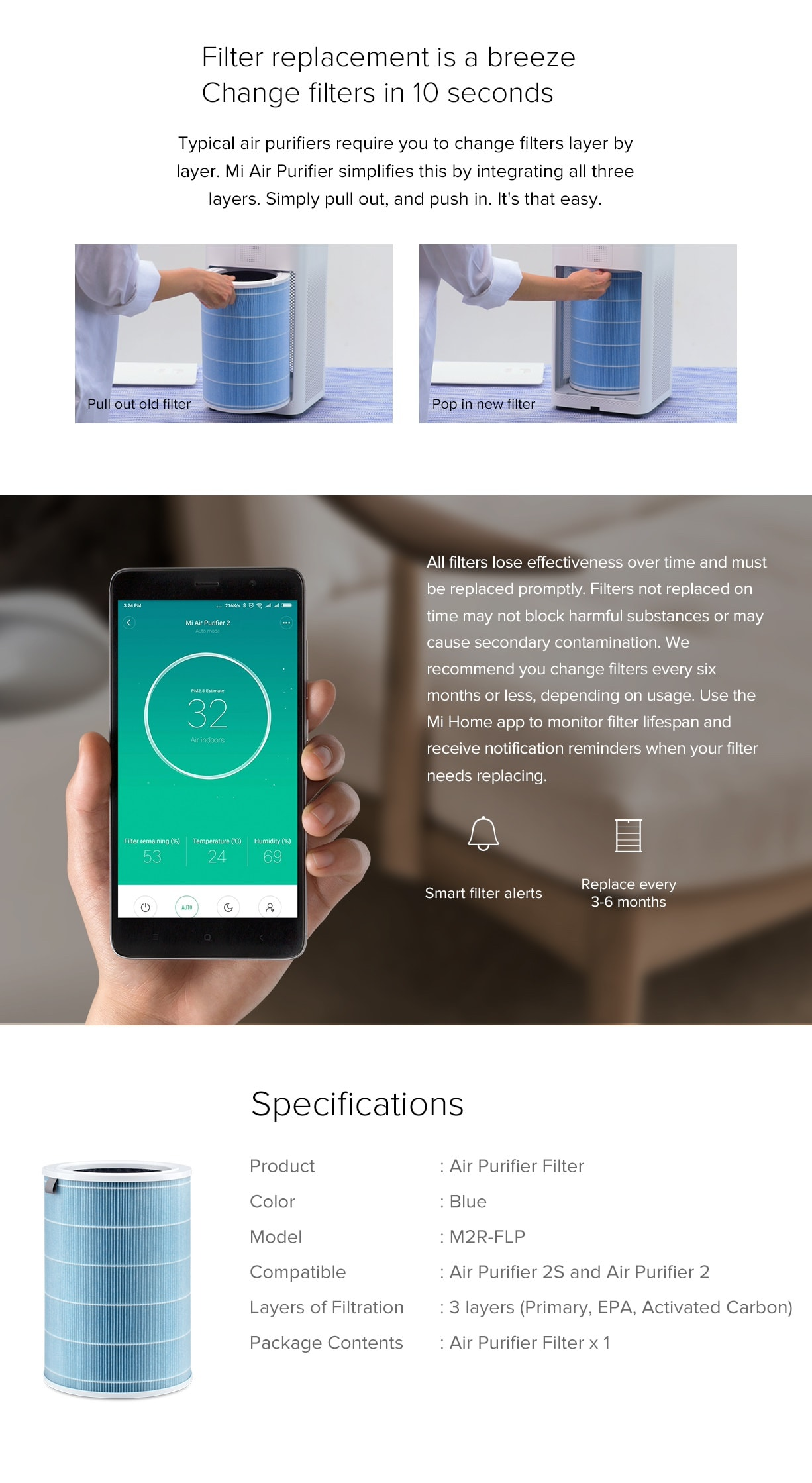 Xiaomi Air Purifier Filter 4