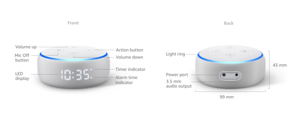 Echo Dot (3rd Generation) Smart Speaker With Clock And Alexa 10