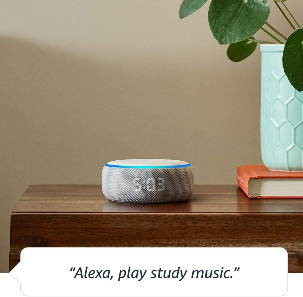 Echo Dot (3rd Generation) Smart Speaker With Clock And Alexa 5