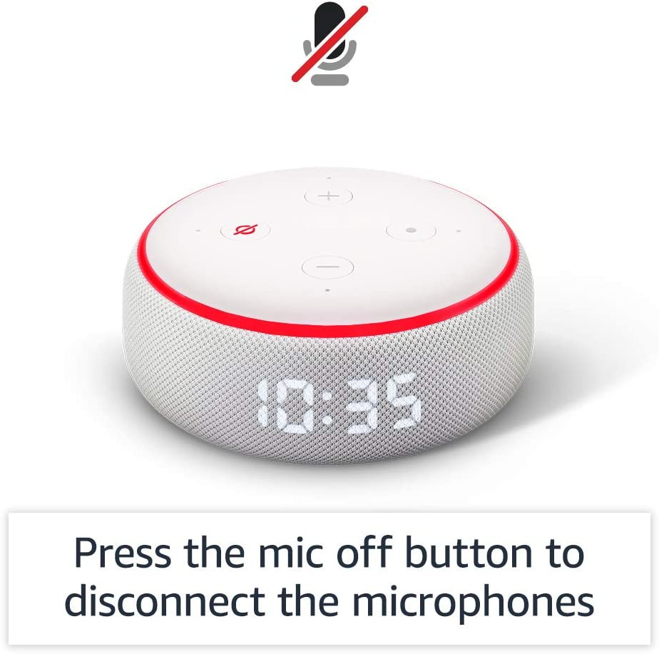 Echo Dot (3rd Generation) Smart Speaker With Clock And Alexa 7